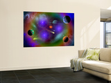 Conceptual Image of a Scene in Outer Space Wall Mural by Stocktrek Images 