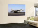 An F/A-18E Super Hornet Lands Aboard Uss Harry S. Truman Wall Mural by  Stocktrek Images