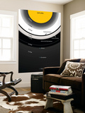 A Diagram Showing the Major Features of Saturn's Rings Wall Mural by  Stocktrek Images