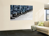 Low Section View of Sailors Forming Ranks for an Award Ceremony Wall Mural by  Stocktrek Images