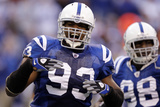 49ers Colts Football: Indianapolis, IN - Dwight Freeney and Robert Mathis Photographic Print by Michael Conroy
