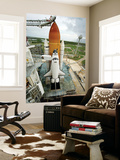 Space Shuttle Atlantis on the Launch Pad at Kennedy Space Center, Florida Wall Mural by  Stocktrek Images