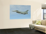A Chilean Air Force F-16 Soars Through the Sky over Brazil Wall Mural by  Stocktrek Images