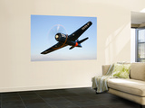 A Grumman F8F Bearcat in Flight Wall Mural by  Stocktrek Images