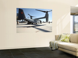 V-22 Osprey Tiltrotor Aircraft at Camp Bastion, Afghanistan Wall Mural by  Stocktrek Images