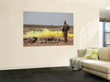 Marines Provide Security While Smoke Marks a Landing Zone Wall Mural by  Stocktrek Images
