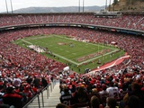 San Francisco 49ers--Candlestick Park: San Francisco, CALIFORNIA - Candlestick Park Photographic Print by George Nikitin