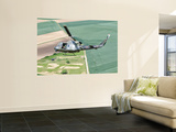 An Italian Air Force Ab-212Ico Helicopter in Flight over France Wall Mural by  Stocktrek Images