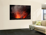 Strombolian Eruption of Mount Bromo Volcano, Tengger Caldera, Java, Indonesia Wall Mural by  Stocktrek Images