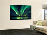 Aurora Borealis over Tjeldsundet in Troms County, Norway Wall Mural by Stocktrek Images