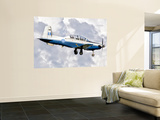 A Hellenic Air Force T-6 Texan Ii Prepares for Landing Wall Mural by Stocktrek Images 