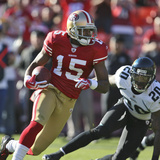 Jaguars 49ers Football: San Francisco, CA - Michael Crabtree Photographic Print by Tony Avelar