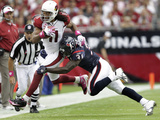 Texans Cardinals Football: Glendale, AZ - Larry Fitzgerald Photo by Matt York