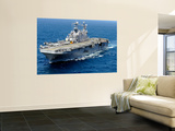 The Amphibious Assault Ship Uss Peleliu in Transit in the Pacific Ocean Wall Mural by  Stocktrek Images