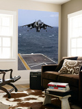 An Av-8B Harrier Ii Prepares to Land on the Flight Deck of Uss Nassau Wall Mural by  Stocktrek Images