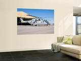 An Italian Navy Eh101 Helicopter at Forward Operating Base Herat, Afghanistan Wall Mural by  Stocktrek Images