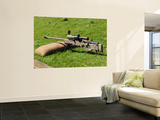 A British Army Arctic Warfare Magnum L115A3 Sniper Rifle Wall Mural by  Stocktrek Images