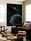 Artist's Concept of a Terrestrial Planet Wall Mural by  Stocktrek Images