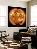 A Massive X-Class Solar Flare Erupts on the Sun Wall Mural by  Stocktrek Images