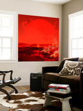 The Sun Seen from a Molten Earth 3 Billion Years from Now Wall Mural by  Stocktrek Images