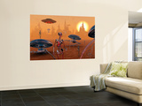 Artist's Concept of Life on Mars Long Ago Wall Mural by  Stocktrek Images