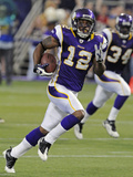 49ers Vikings Football: Minneapolis, MN - Percy Harvin Photographic Print by Jim Mone