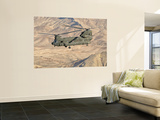 Italian Army Ch-47C Chinook Helicopter in Flight over Afghanistan Wall Mural by  Stocktrek Images