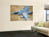 A Royal Air Force Harrier GR9 Flying Low over North Wales Wall Mural by  Stocktrek Images