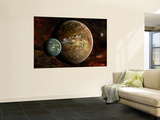 A System of Extraterrestrial Planets and their Moons Wall Mural by  Stocktrek Images