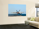An F/A-18F Super Hornet Launches from the Flight Deck of Aircraft Carrier Uss Nimitz Wall Mural by Stocktrek Images