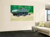 A Belgian Army Piranha Iiic with the Fn Arrows Remote Weapon System Turret Wall Mural by  Stocktrek Images