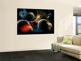 Artist's Concept Illustrating the Edge of Space Wall Mural by  Stocktrek Images