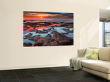 Tidal Pools Reflect the Sunrise Colors During the Autumn Equinox Wall Mural by  Stocktrek Images