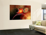 Artist&#39; Concept Illustrating the Stellar Explosion of a Supernova Wall Mural by Stocktrek Images 