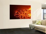 Lava Lake in Summit Caldera, Nyiragongo Volcano, Democratic Republic of the Congo Wall Mural by  Stocktrek Images