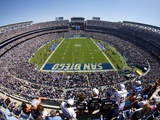 Ravens Chargers Football: San Diego, CALIFORNIA - Qualcomm Stadium Photographic Print by Chris Park