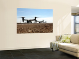 V-22 Osprey Tiltrotor Aircraft Arrive at Camp Bastion, Afghanistan Wall Mural by  Stocktrek Images