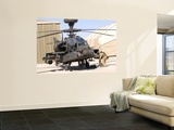 An Apache Helicopter at Camp Bastion, Afghanistan Wall Mural by  Stocktrek Images