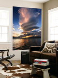 A Massive Stacked Lenticular Cloud over Tjedsundet in Troms County, Norway Wall Mural by  Stocktrek Images
