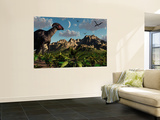 A Parasaurolophus Dinosaur During the Late Cretaceous Period Wall Mural by  Stocktrek Images