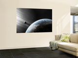 A Strange Alien Light Approaches the Earth Wall Mural by  Stocktrek Images