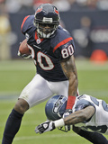 Seahawks Texans Football: Houston, TX - Andre Johnson Bilder av David J. Phillip