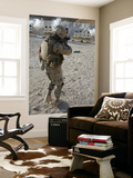 A Soldier Engages His Target on a Shooting Range at Al Asad, Iraq Wall Mural by  Stocktrek Images