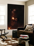 Aplanet Illuminated by Plasma Floating in the Vast Space Wall Mural by  Stocktrek Images