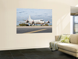 A Portuguese Air Force P-3C Cup Orion at Beja Air Base, Portugal Wall Mural by  Stocktrek Images
