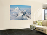 Aerial View of Shishaldin Volcano, with Isanotski Peaks in Foreground, Alaska Wall Mural by  Stocktrek Images
