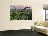 Diplodocus Dinosaurs of the Sauropod Family Wall Mural by  Stocktrek Images