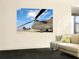 Italian Army Ch-47C Chinook Helicopters at Forward Operating Base Herat Wall Mural by  Stocktrek Images