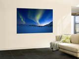 Aurora Borealis over Skittendalen Valley in Troms County, Norway Wall Mural by  Stocktrek Images