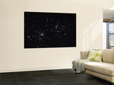 The Double Cluster in the Constellation Perseus Wall Mural by  Stocktrek Images